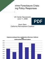 California Subprime Foreclosure Crisis  -Lending Charts 2008