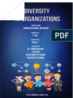 Organizational Behavior Case prepare on DIversity in Organization