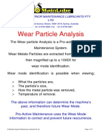 Wear Particle Analysis