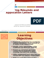 Chapter 14 Preparing Resumes & Application Message
