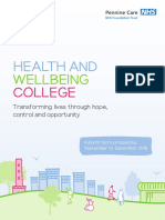 MHMC Health & Wellbeing College Prospectus - Autumn 2016
