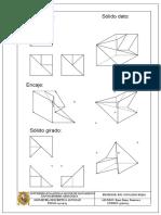 Encaje de un solido dibujo tecnico