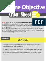 Resume Objective Cheat Sheet