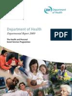Department of Health Departmental Report 2009