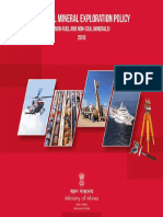 National Mineral Exploration Policy of India