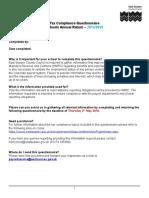 Tax Compliance Questionnaire