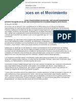 Primeros roces en el Movimiento Federal