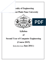 Latest UNIPUNE syllabus.(Comp Engg wrf. June 2016 )