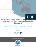 Equalising Participation of Women in STEM International Case Studies of Successful Strategies Anna Kosmynina