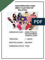 PERAYAAN PERAYAAN DI MALAYSIA