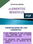 Elementos Beneficos