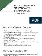 Concept Document for CRM Warranty Determination