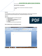 Module 1 Operating a Word Processing Application