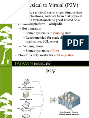 P2V-by-Clonezilla pdf | Virtual Machine | Areas Of Computer