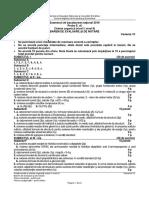 Chimie Organica Niv I II Teoretic 2016 Barem 10 LRO