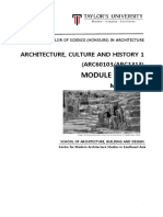 architecture culture and history 1  arc60103 arc1313  - module outline - march 2016  1 -4