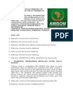 AMISOM POLICE EMBARKS ON SECOND PHASE OF POLICE TRAINING IN KISMAAYO