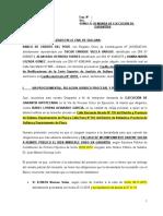 DEMANDA DE EJECUCIÓN DE GARANTÍAS