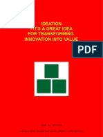 Ideation - It's a Great Idea For Transforming Innovation Into Value