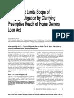 Ninth Circuit Limits Scope of Mortgage Litigation