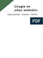 Cirugía en Pequeños Animales. Instrumental- Suturas- Nudos