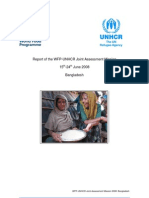 Report of the WFP-UNHCR Joint Assessment Mission 15th-24th June 2008 Bangladesh