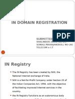 In DOMAIN Registration der