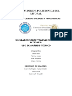 Reporte de Transacciones en el Simulador de Investopedia
