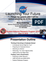 Launching Your Future - Preparing for Graduate School, Jobs in Government, STEM Research