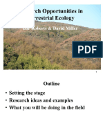Research Opportunities in Terrestrial Ecology