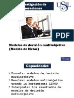 Modelos Multiobjetivo de Programación Lineal