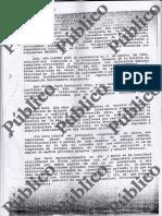 Carta de Villarejo sobre sus periodistas infiltrados