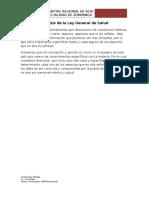 Análisis de La Ley General de Salud