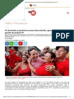 PT Do Recife Se Posiciona Contra Novo Recife, Aprovado Durante Gestão Do Próprio PT
