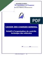 Cahier Des Charges Relatif a l'organisation Du Controle Technique