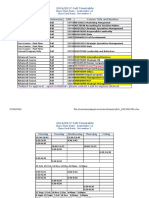 2016 2017 Course Schedule