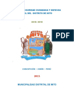 Plan Distrital de Seguridad Ciudadana 2015