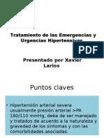 Tratamiento de Las Emergencias y Urgencias Hipertensivas