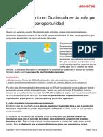 Emprendimiento Guatemala Da Necesidad Oportunidad
