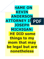 SHAME ON KEVIN ANDERSON ATTORNEY IN ST JOSEPH MICHIGAN