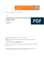 Intro MIPS Assembly Language