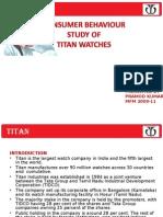 Titan ppt on consumer behaviour