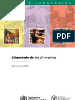 FAO_Codex Alimentarius - Etiquetado de Los Alimentos (5ª Ed)