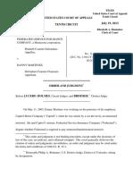 Federated Service Insurance Co v. Martinez, 10th Cir. (2013)