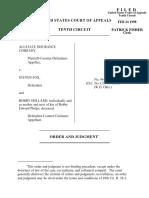 Allstate Insurance v. Holland, 139 F.3d 911, 10th Cir. (1998)
