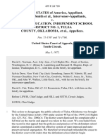 United States of America, Aaron Lee Smith, Intervenor-Appellants v. Board of Education, Independent School District No. 1, Tulsa County, Oklahoma, 459 F.2d 720, 10th Cir. (1972)