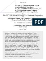 Williams Natural Gas Company, a Utah Corporation, Smith Cogeneration, Inc., an Oklahoma Corporation, and Powersmith Co-Generation Project, a Limited Partnership, Plaintiffs-Intervenors-Appellants v. The City of Oklahoma City, a Municipal Corporation, and Oklahoma Natural Gas Company, a Delaware Corporation, 890 F.2d 255, 10th Cir. (1989)