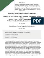 Delores A. Bradshaw v. Alpine School District, Board of Education of Alpine School District, Clark L. Cox, Colene Granger, and William Stanford Stubbs, 956 F.2d 277, 10th Cir. (1992)