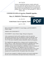 United States v. Mary E. Friesen, 961 F.2d 221, 10th Cir. (1992)