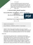 J. Thomas Hares v. Tulsa Housing Authority, Sued As